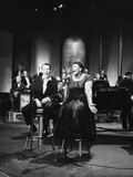 Ella Fitzgerald and Frank Sinatra - 1958 Photographic Print by Howard Morehead