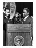 Harold Washington,Charles Freeman Photographic Print by Michael Cheers