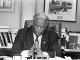 Harold Washington -1987 Photographic Print by Vandell Cobb