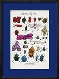 Happy Bug Day, c.1954 Estampe encadrée par Andy Warhol