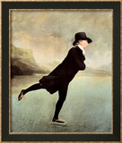 Reverend Robert Walker Skating on Duddin Poster par Sir Henry Raeburn