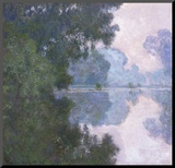 Morning on the Seine, near Giverny Mounted Print by Claude Monet