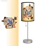 Saturday Evening Post: Triple Self-Portrait - Table Lamp Table Lamp by Norman Rockwell
