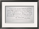 Part of a Letter Written and Signed by President John Adams Framed Giclee Print by John Adams