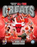 Chicago Bulls All-Time Greats Composite Fotografía