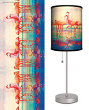 Saturday Evening Post: Pink Flamingos - Table Lamp Table Lamp