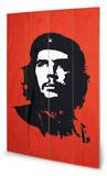 Che Red Wood Sign Znak drewniany