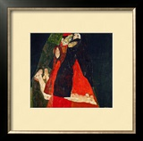 Cardinal and Nun (Liebkosung), 1912 Framed Giclee Print by Egon Schiele
