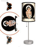 Saturday Evening Post: Butterfly Girl with Tear - Table Lamp Table Lamp