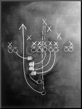 Football Play on Chalkboard Mounted Photo by Howard Sokol