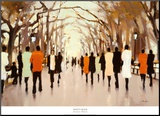 Poet's Walk Mounted Print by Lorraine Christie