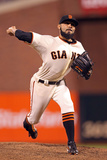 San Francisco, CA - Oct 25: San Francisco Giants v Detroit Tigers - Sergio Romo Photographic Print by Christian Petersen