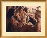Showgirls Playing Chess Between Shows at Latin Quarter Nightclub Framed Photographic Print by Gordon Parks
