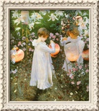 Chinese Lanterns, Girls, 1885 Framed Giclee Print by John Singer Sargent