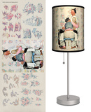 Saturday Evening Post: Tattoo Artist - Table Lamp Table Lamp by Norman Rockwell