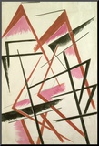 Linear Construction, c.1921 Druck aufgezogen auf Holzplatte von Liubov Sergeevna Popova