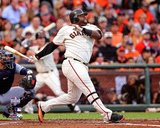Pablo Sandoval Solo Home Run 1st Inning Game 1 of the 2012 MLB World Series Action Foto