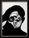 Photographer Dennis Stock Holding Camera to His Face Framed Photographic Print by Andreas Feininger