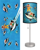 Saturday Evening Post: Jack n' Jill A Day in Outerspace - Table Lamp Table Lamp