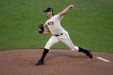 San Francisco, CA - Oct. 24:   San Francisco Giants v Detroit Tigers - Barry Zito Photographic Print by Thearon W. Henderson