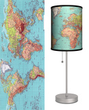 1970's Map - Table Lamp Table Lamp