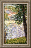 Morning Stroll Framed Giclee Print by Georges Seurat