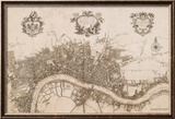 Plan of the City of London, 1720 Art by John Stow