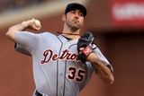 San Francisco, CA - Oct. 24:   San Francisco Giants v Detroit Tigers - Justin Verlander Photographic Print by Doug Pensinger
