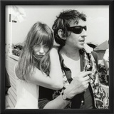 Serge Gainsbourg and Jane Birkin, July 23, 1970 Framed Photographic Print by Luc Fournol