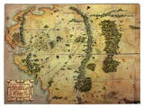 The Hobbit - Journey Map Houten bord