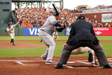 San Francisco, CA - Oct. 24:   Giants v Detroit Tigers - Barry Zito  and Miguel Cabrera Photographic Print by Ezra Shaw