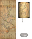 Old World Map - Table Lamp Table Lamp