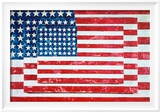 Three Flags, 1958 Poster by Jasper Johns