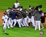 The Detroit Tigers Celebrate Winning Game 4 of the 2012 American League Championship Series Photo