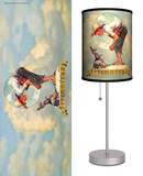 Saturday Evening Post: Springtime: Boy with Rabbit - Table Lamp Table Lamp by Norman Rockwell