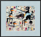 Tenor, 1985 Framed Giclee Print by Jean-Michel Basquiat