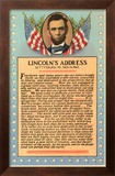 Lincoln with Text of Gettysburg Address Framed Giclee Print