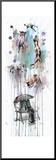 Rain Dogs Mounted Print by Lora Zombie