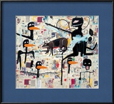 Tenor, 1985 Estampe encadrée par Jean-Michel Basquiat
