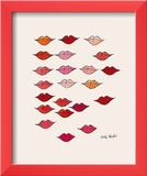 Lips Framed Giclee Print by Andy Warhol