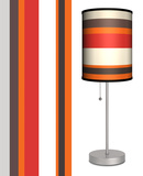 Red Stripes - Table Lamp Table Lamp