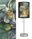 Still Life with a Ginger Jar and Eggplants - Table Lamp Table Lamp by Paul Cézanne