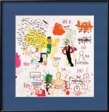 Riddle Me This, Batman, 1987 Estampe encadrée par Jean-Michel Basquiat