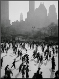 Iceskating in New York Mounted Photo