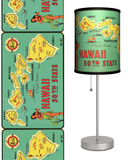 Hawaii 50th State Map - Table Lamp Table Lamp