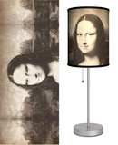 Mona Lisa - Table Lamp Table Lamp by Leonardo da Vinci
