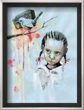 Bird Framed Giclee Print by Lora Zombie