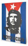 Che Flag Znak drewniany