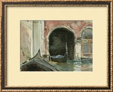 Venetian Canal Framed Giclee Print by John Singer Sargent