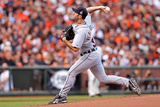 San Francisco, CA - Oct. 24:   San Francisco Giants v Detroit Tigers - Justin Verlander Photographic Print by Christian Petersen